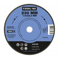 Круг отрезной по металлу Ferrline 230х1,6х22 Expert
