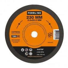 Круг отрезной по металлу Ferrline 230х2,5х22 Express