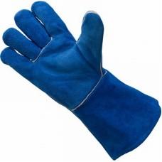 Краги спилковые пятипалые (синие)