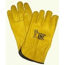 Перчатки кожаные Драйвер (желтые)