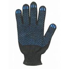 Перчатки ПВХ 7-ми нитка (черные)