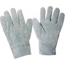 Перчатки спилковые цельные (серые)